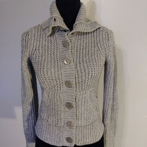 Old Navy Brand gray knit button up sweater size S
